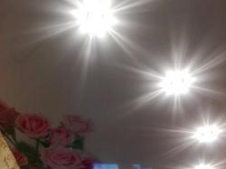 Фотопечать цветы на натяжном потолке - фото3